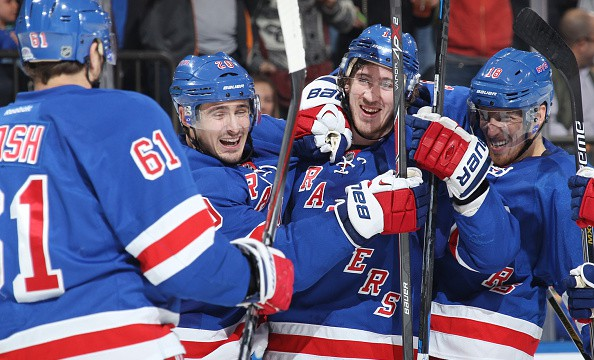 Kevin Hayes goal celebration 10-19