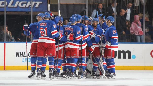 Rangers celebrate a win 10-16