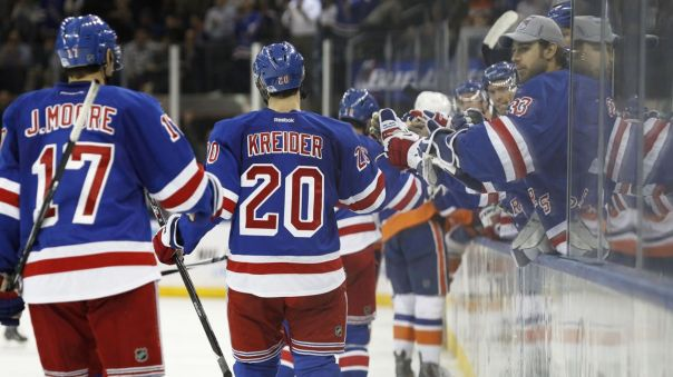 Rangers players and Bench 10-14