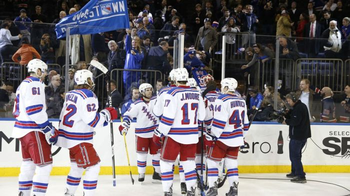 rangers celebrate a win 11-19