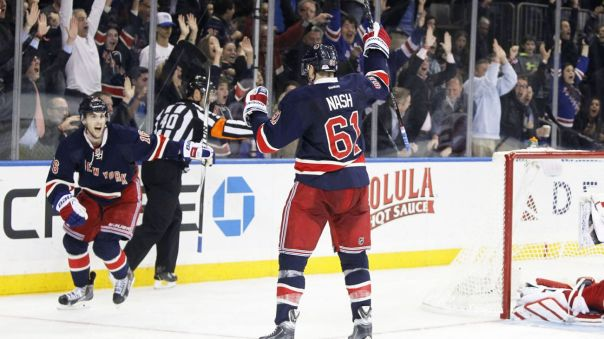 Rick nash goal celebration 11-5
