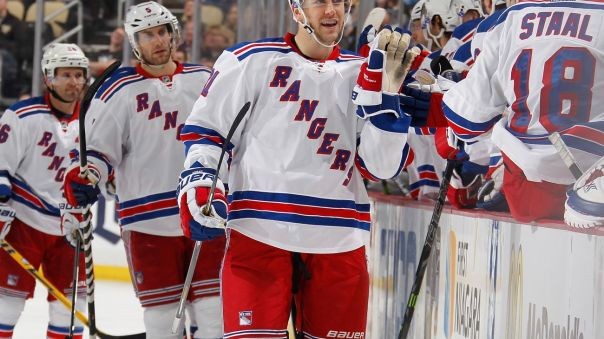 derek stepan hi-five line 1-18