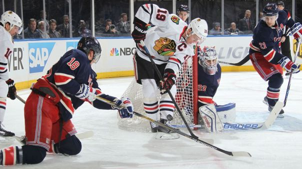 rangers vs blackhawks 3-18