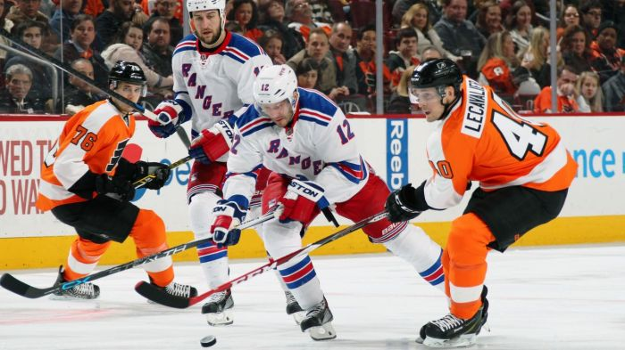 rangers vs flyers 2-28