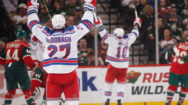 JT Miller and McDonagh goal celebration 4-2