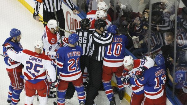 rangers vs capitals scrum 3-29