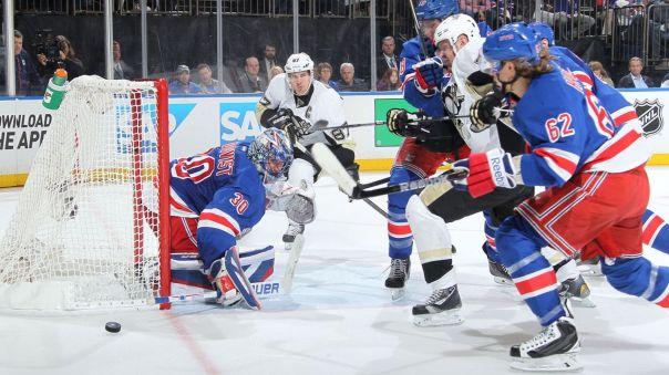 rangers vs penguins game 2 lundqvist 4-18