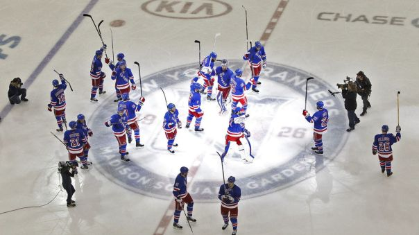rangers salute the crowd 5-8
