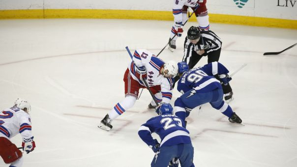 rangers vs lightning Game 6 faceoff 5-26