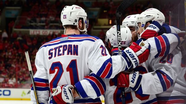 rangers celebrate a goal (good pic) 5-10