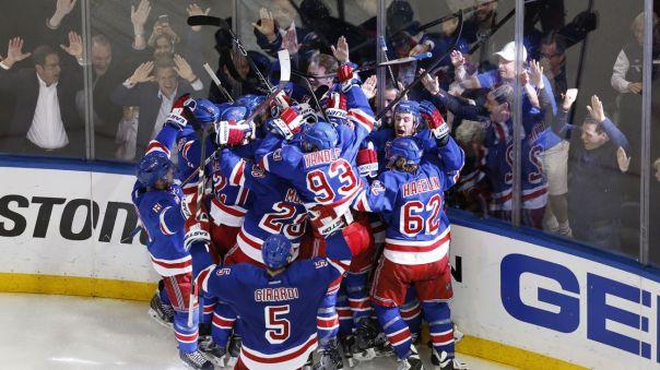Rangers celebrate Game 7 win 5-13