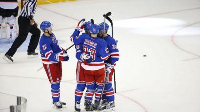 Rangers celebrate a goal 9-21