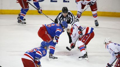 Rangers vs Capitals Game 5 faceoff 5-8