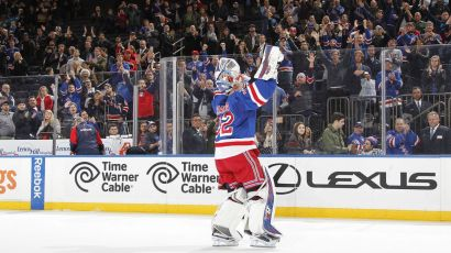 antti raanta celebrating a win 10-19