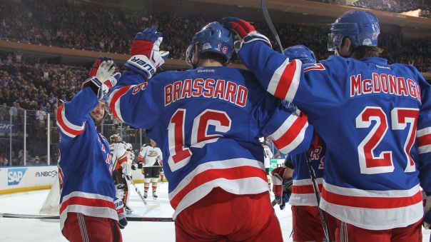 derick brassard and zuccarello hi five 3-22