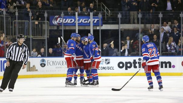 Rangers celebrate a goal 10-19
