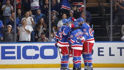 Rangers celebrate a goal 9-30