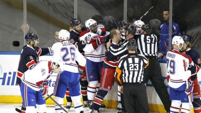 rangers vs canadiens fight 1-29