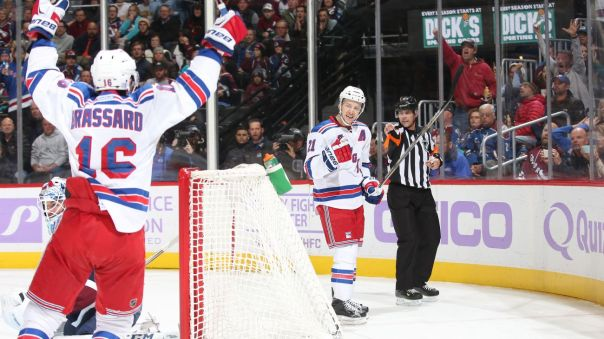 derek stepan goal celebration 11-6
