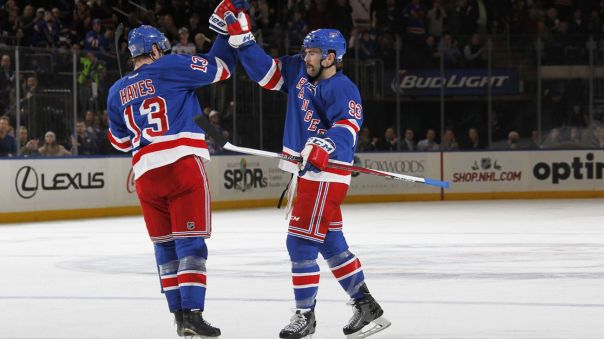 keith yandle and kevin hayes hi five 11-23