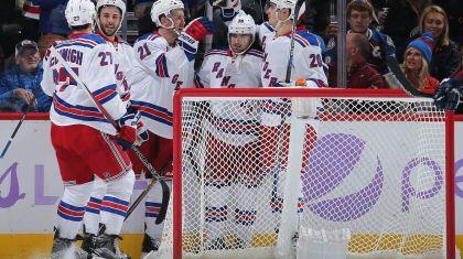 Rangers celebrate a goal 11-6