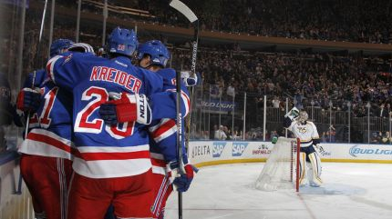 rangers goal celebration msg background 11-23