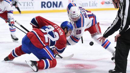 rangers vs canadiens faceoff 10-15