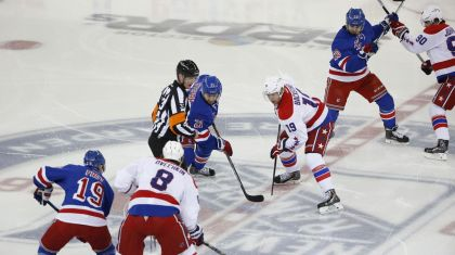 Rangers vs capitals Game 7 faceoff 5-13