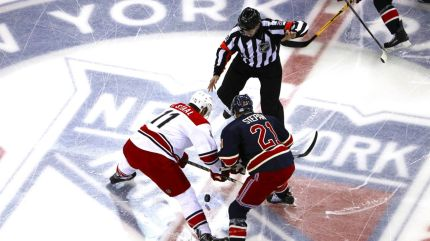 rangers vs hurricanes faceoff 1-31