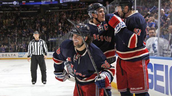 Rangers celebrate a goal (great shot) 10-30