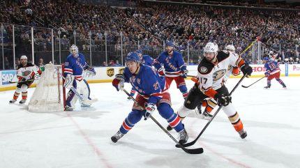 rangers vs ducks 3-22