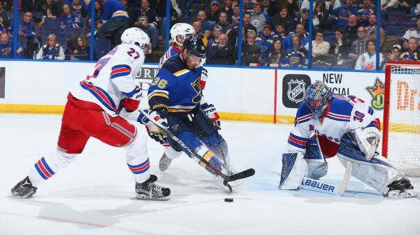 Rangers vs Blues 2-25