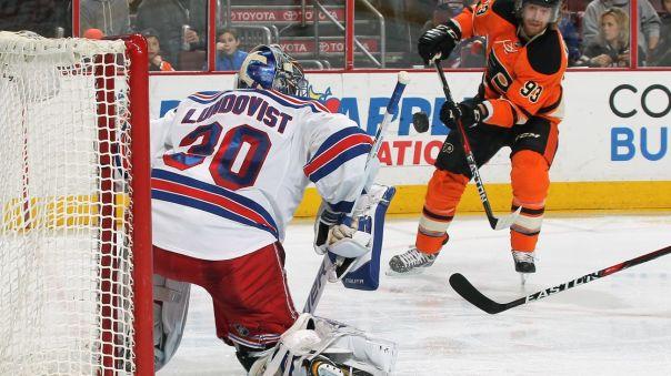 Rangers vs Flyers 2-6