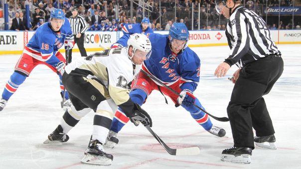 rangers vs penguins game 1 faceoff 4-16