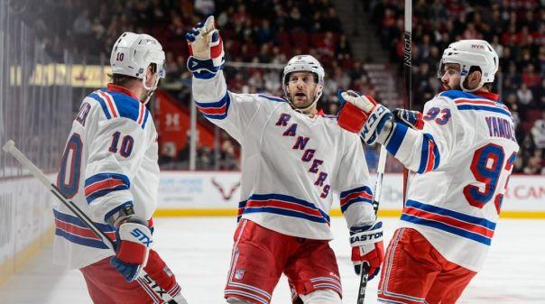 Rangers celebrate a goal 3-26