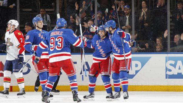 Rangers goal celebration 3-21