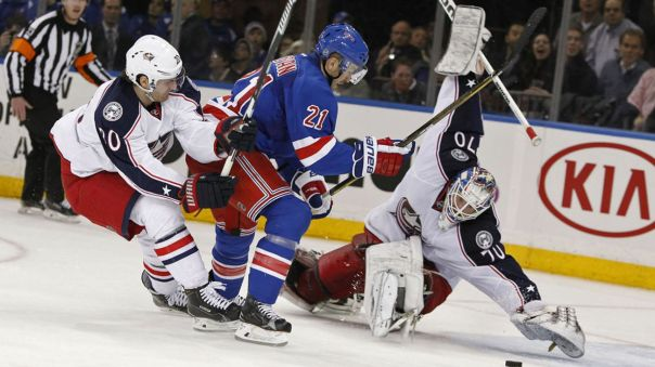 rangers vs blue jackets 2-29
