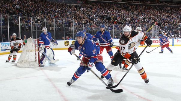 rangers vs ducks 3-22