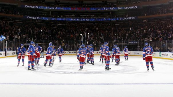 rangers salute the crowd 12-15