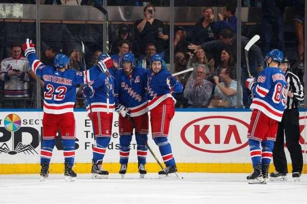 Rangers celebrating a goal